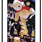 Teddy bears in Christmas Trees by Cathleen Knutson
