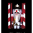 Nutcracker on a holiday card by Cathleen Knutson