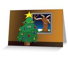 Jealous Tree Greeting Card