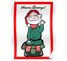 Happy Holiday Elf Poster