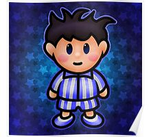 Ness in Pajamas Poster