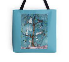 cat family tree Tote Bag