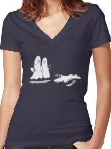 Can't Handle Boos Women's Fitted V-Neck T-Shirt