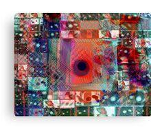 A blue hole in the center of my city Canvas Print