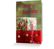 Merry Christmas candles - Christmas card Greeting Card