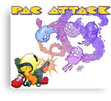 Pac Attack Weathered Canvas Print
