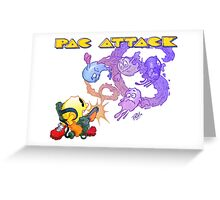 Pac Attack Weathered Greeting Card