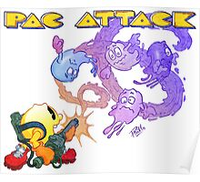 Pac Attack Weathered Poster
