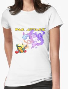 Pac Attack Weathered Womens Fitted T-Shirt