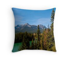 Bow Valley Parkway Throw Pillow