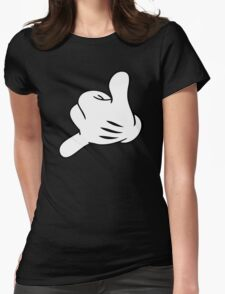 Funny Surf fingers - Shaka hand Womens Fitted T-Shirt