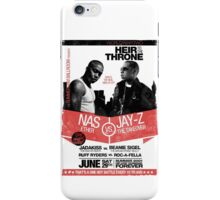 Jay-Z vs Nas - Heir to the Throne iPhone Case/Skin