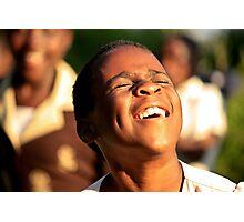 Boy Dancing in Uganda Photographic Print