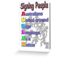 Signing People - AUSLAN Greeting Card