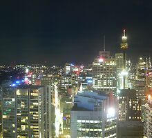 Sydney CBD at night by brozekcordier
