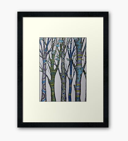 Psychedelic trees Framed Print