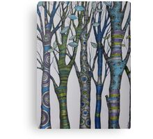 Psychedelic trees Canvas Print