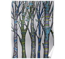 Psychedelic trees Poster