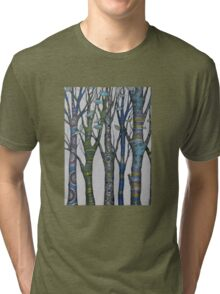 Psychedelic trees Tri-blend T-Shirt