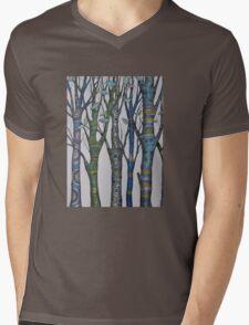 Psychedelic trees Mens V-Neck T-Shirt