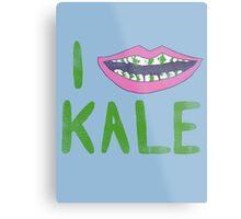 I Heart Kale Metal Print