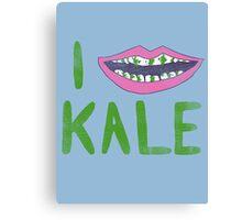 I Heart Kale Canvas Print