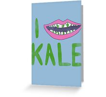 I Heart Kale Greeting Card