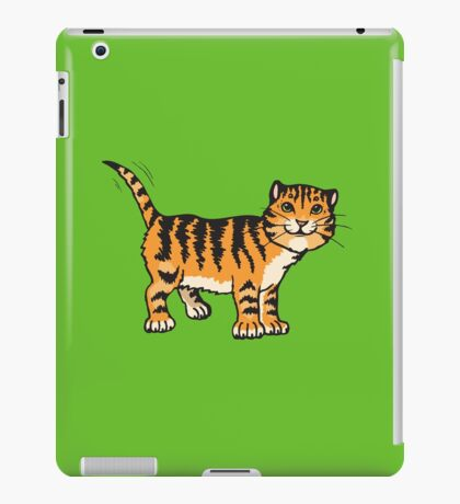 Goofy tiger with wagging tail iPad Case/Skin