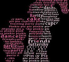 My Little Pony - Pinkie Pie Typography by SSXVegeta