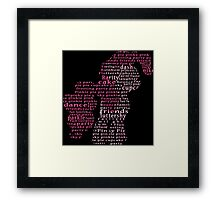 My Little Pony - Pinkie Pie Typography Framed Print