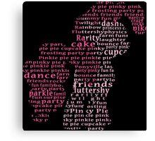 My Little Pony - Pinkie Pie Typography Canvas Print