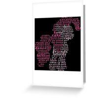 My Little Pony - Pinkie Pie Typography Greeting Card