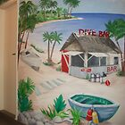 "Mural of Beachside ""Dive Bar"" by nancy salamouny"