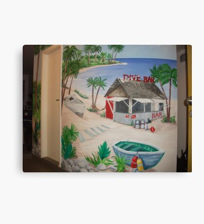 "Mural of Beachside ""Dive Bar"" Canvas Print"