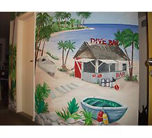 "Mural of Beachside ""Dive Bar"" Photographic Print"