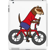 Funny Ferret Riding Bicycle Art iPad Case/Skin