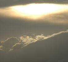 Sun over clouds by Bob Leckridge