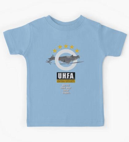 Upside-down Helicopter Flying Association Kids Tee