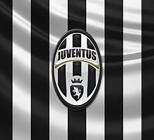 Juventus F.C. - 3D Badge over Flag by Serge Averbukh