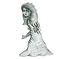 Cartoon Sketch in Pencil Photographic Print