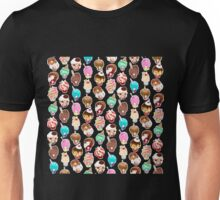 Delicious dollfaced dearies don delectable dessert doos Unisex T-Shirt