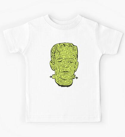 Frankenstein Halloween Maze Kids Tee