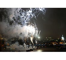 Fireworks over the Thames Photographic Print