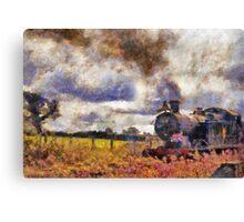 Steam Train at Cranmore station, Shepton Mallet, Somerset, England, UK Canvas Print