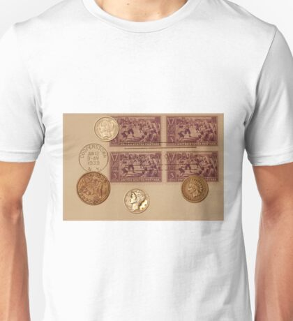Coins and Stamps Unisex T-Shirt