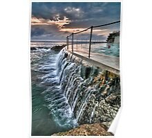 Dawn dip at Bronte Ocean Baths Poster