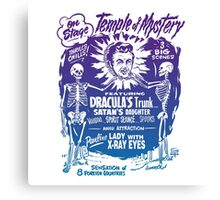 Vintage Halloween Spook Show Temple of Mystery  Canvas Print