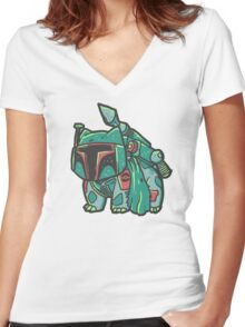 Bulba Fett Women's Fitted V-Neck T-Shirt