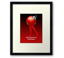 MAY ALL YOUR CHRISTMAS BALLS BE BRIGHT Framed Print