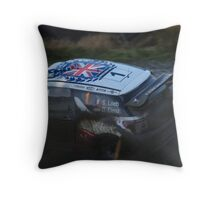 wrc sweet lamb stage wales uk mr loeb Throw Pillow